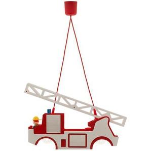 Pendelleuchte Feuerwehr Holz ¦ mehrfarbig ¦ Maße (cm): B: 11 H: 20