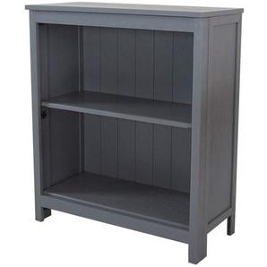 Penguin Home Massives Hartholz-Bücherregal mit 3 Stufen Bücherregal, Grey 3697 89.53 x 77.47 x 13.33 cm