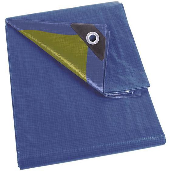 Perel Abdeckplane Blau/Khaki stark 6 x 10 m