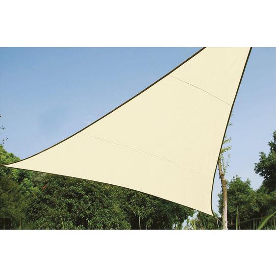 Perel Dreieck-Sonnensegel 500 cm x 500 cm Creme