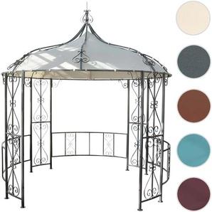 Pergola Almeria, Rundpavillon Garten Pavillon, stabiles Stahl-Gestell  3m ~ creme