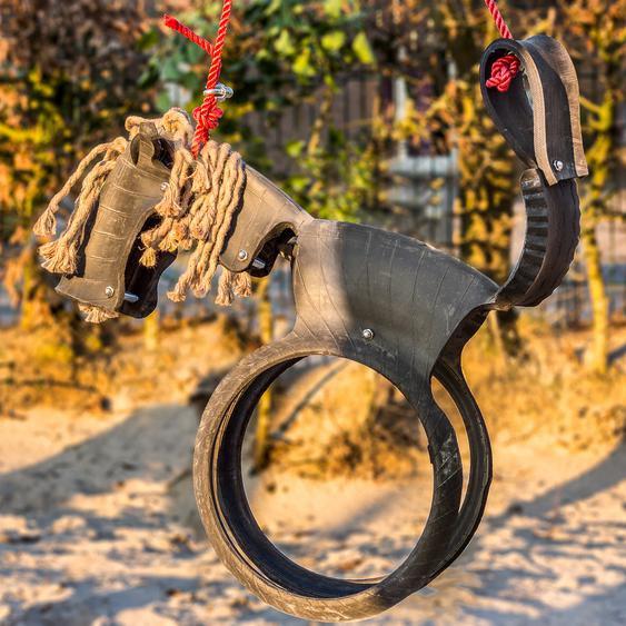 Pferdeschaukel, Kinderschaukel, Reifenschaukel Schaukelpferd Upcycling Schaukel