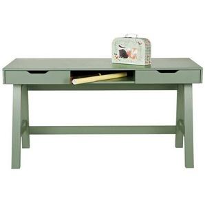 Pharao24 Schreibtisch »Syntia«, aus Massivholz, mit Stauraum