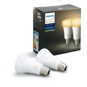 Philips LED-Lampe Hue White Ambiance E27 Doppelpack 9,5W