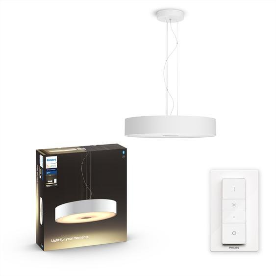 Philips Hue LED-Pendelleuchte Hue White Ambiance Fair weiß 3000 lm inkl. Dimmschalter