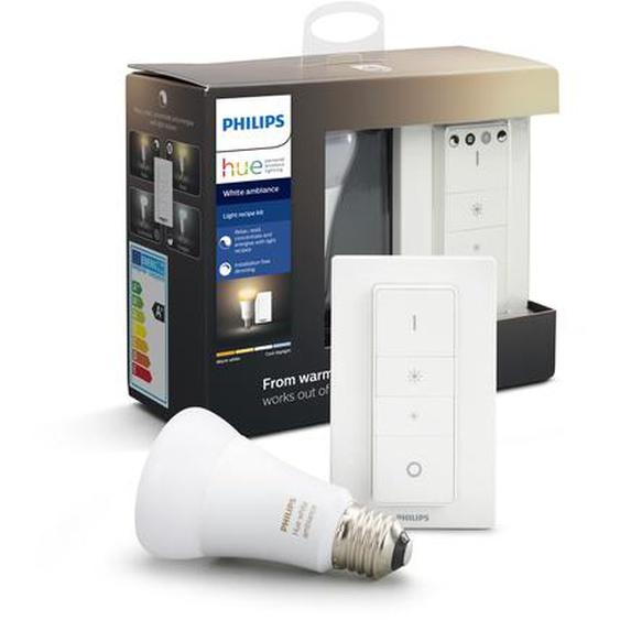 Philips Hue Light Recipe Kit Hue White Ambiance inkl. LED-Lampe E27 9,5 W und Dimmschalter