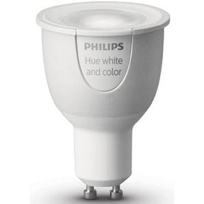 Philips Hue LED-Lichtsystem, GU10, 1 Stück, Neutralweiß, Tageslichtweiß, Warmweiß, Extra-Warmweiß, Farbwechsler, smartes LED-Lichtsystem mit App-Steuerung