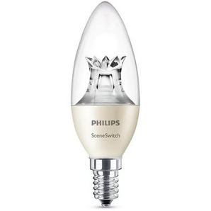 Philips Leuchtmittel LED Kerze E14 klar, 2/4/5,5 W, SceneSwitch