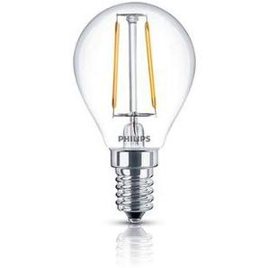 Philips Leuchtmittel LED Tropfen E14 klar, 2,3 W, 2700 K