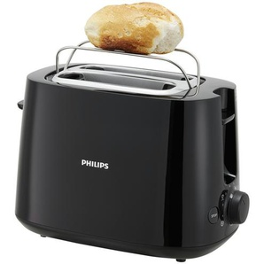PHILIPS Toaster  HD 2581/90 - schwarz - Kunststoff, Metall - 30,4 cm - 21,4 cm - 18,4 cm | Möbel Kraft