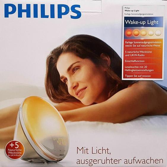 Philips Wake-up Light Hf3520/01 Tages Lichtwecker Fm Radiowecker - Neu