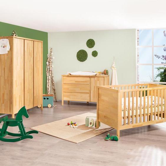 Pinolino-Babyzimmer »Enno« aus Massivholz - naturfarben - Massivholz -
