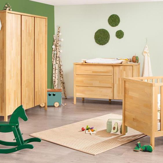 Pinolino-Kleiderschrank »Enno« aus Massivholz - naturfarben - Massivholz -
