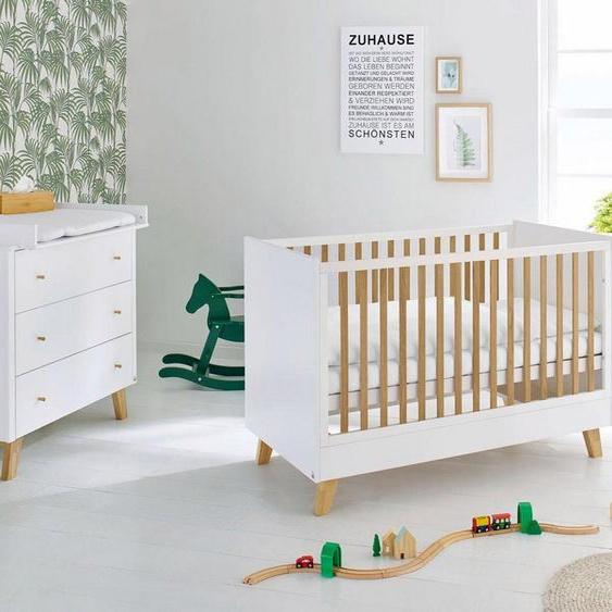 Pinolino® Babymöbel-Set »Pan«, (Spar-Set, 2-St), breit; Made in Europe; mit Kinderbett und Wickelkommode
