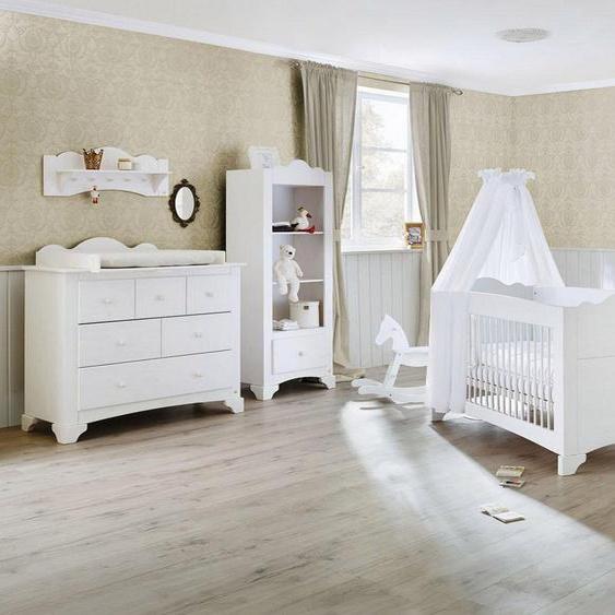 Pinolino® Babyzimmer-Komplettset »Pino«, (Set, 3-St), breit groß; mit Kinderbett, Schrank und Wickelkommode; Made in Europe
