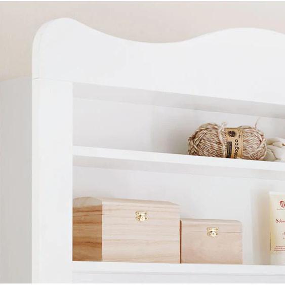 Pinolino Regalaufsatz Florentina, für Wickelkommode Florentina breit; Made in Europe 103x23x87 cm weiß Baby Babyregale Babymöbel Möbelaufsätze