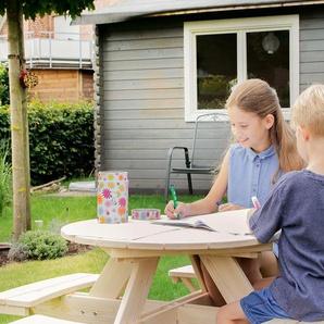 Pinolino Sitzgarnitur »Nicki für 4 rund« - naturfarben - Massivholz -