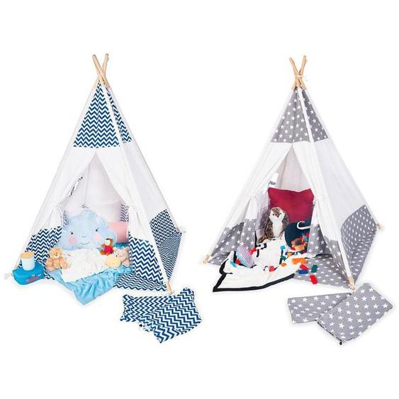 Pinolino Tipi Zelt Kinder, ab 3 Jahren, inklusive Bodenmatte, mit Fenster