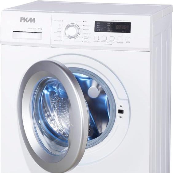PKM Waschmaschine WA7-E1214, 7 kg, 1400 U/min F (A bis G) Einheitsgröße weiß Waschmaschinen Haushaltsgeräte