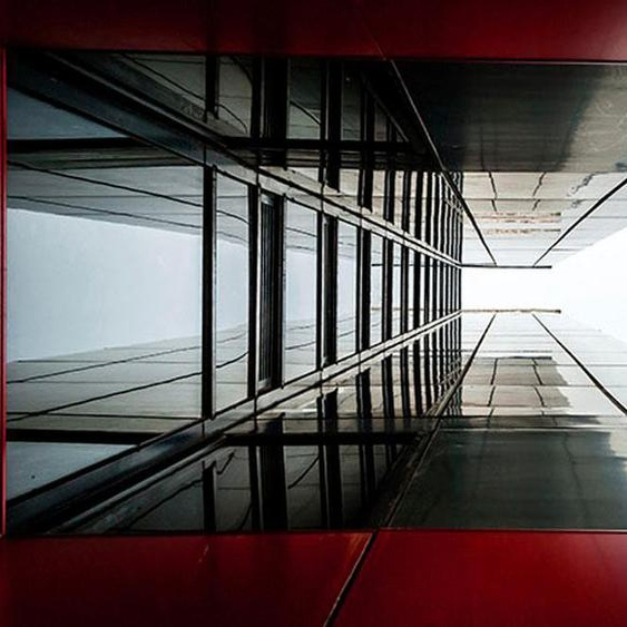 Places of Style Acrylglasbild Hochhaus B/H/T: 120 cm x 80 2,4 cm, bunt Acrylglasbilder Bilder Bilderrahmen Wohnaccessoires
