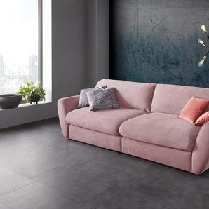 Places of Style Big-Sofa »Bahia«, in 3 Bezugsqualitäten inkl. Zierkissen