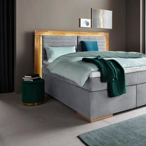 Boxspringbett , grau, 160x200cm, H2, »Cup«, , , Places of Style