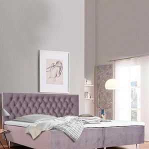 Boxspringbett »Exclusive«, lila, 140x200cm, H2, , , Places of Style