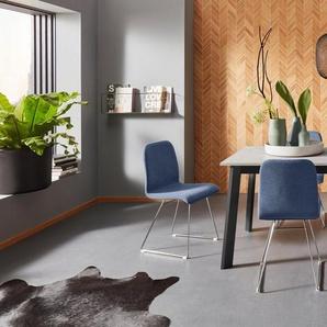 Places of Style Esszimmerstuhl »Ciao« (Set, 2 Stück), in zwei verschiedenen Bezugsqualitäten, 4 unterschiedliche Farbvarianten, Sitzhöhe 46 cm
