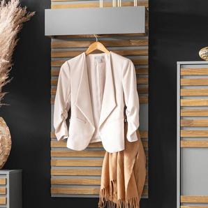 Places of Style Garderobenpaneel Bertil, 3 Haken aus Metall B/H/T: 58,5 cm x 134 24,5 beige Garderobenpaneele Garderoben
