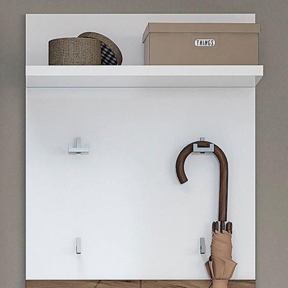 Places of Style Garderobenpaneel »Stela«, hochwertig UV lackiert, Breite 59 cm, weiß