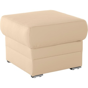 Places of Style Hocker Felitto 0, NaturLEDER® beige Polsterhocker Sessel und Sofas Couches