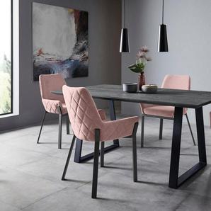 Places of Style Stuhlset »Lome« (2 Stück), mit Webstoff bezogen, in 3 Trendfarben