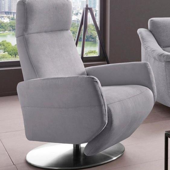 Places of Style TV-Sessel »Kobra«, Fuß: Drehteller aus Edelstahl, Gasdruckfeder