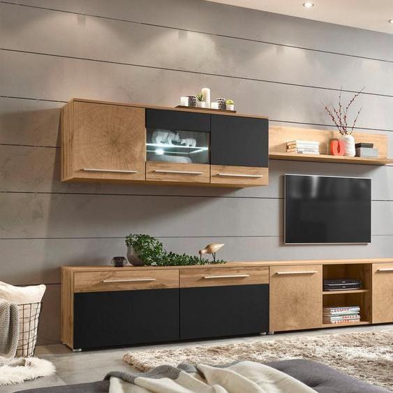 Places of Style Wohnwand »Locarno«, (Set, 4-tlg), im trendigen Design