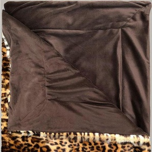 Plaid »Bory Furry«, Essenza, Leopardenprint