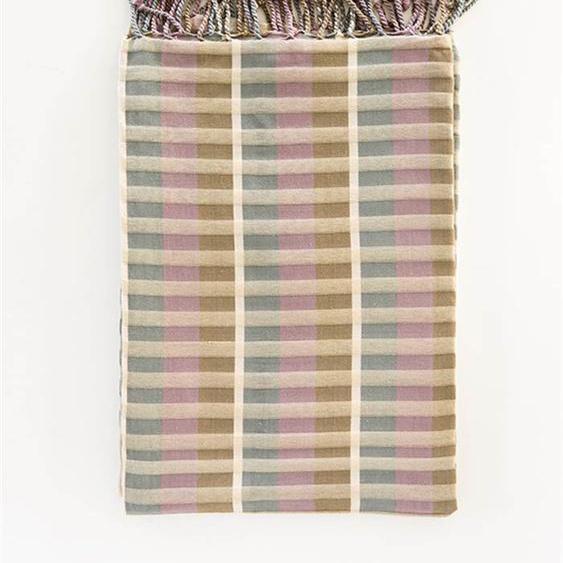 Plaid buntgewebt - bunt - 100 % Baumwolle - Wolldecken & Plaids