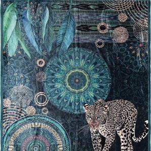 Plaid »Imena«, hip, mit Mandalas und Schneeleopard