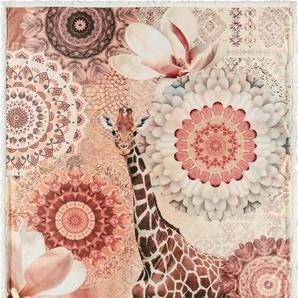 Plaid »Rivkah«, hip, mit Mandalas und Giraffe