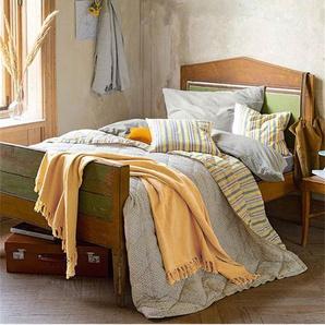 Plaid Sonnengelb - bunt - 100 % Baumwolle - Wolldecken & Plaids