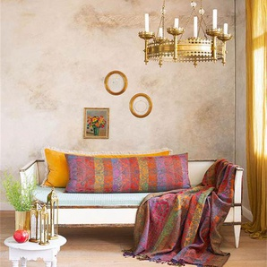 Plaid Udaipur - bunt - 100 % Wolle - Wolldecken & Plaids