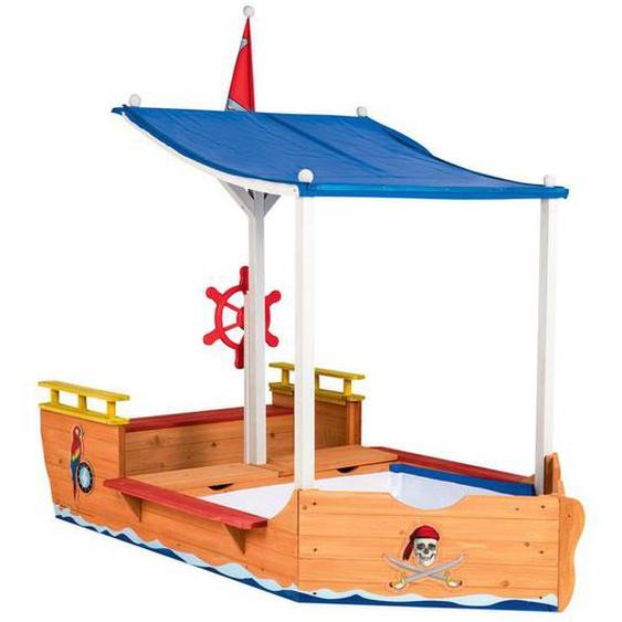 PLAYTIVE® Piraten Sandkasten, mit Abdeckplane