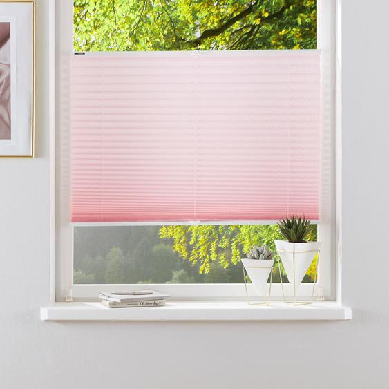 Plissee, DAHRA, my home, Lichtschutz, ohne Bohren, verspannt 8, H/B: 130/110 cm, zweiseitig verschiebbar rosa Plissees Bohren Rollos Jalousien Plissee