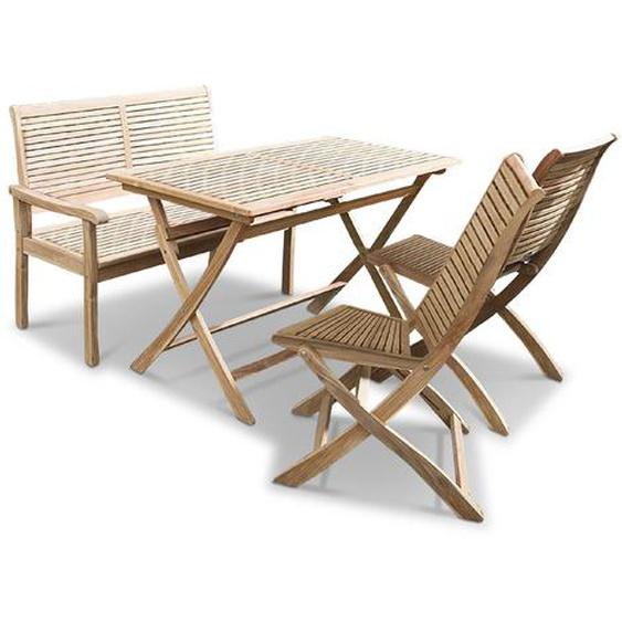 Ploß Gartenmöbel Set, Teak, Holz
