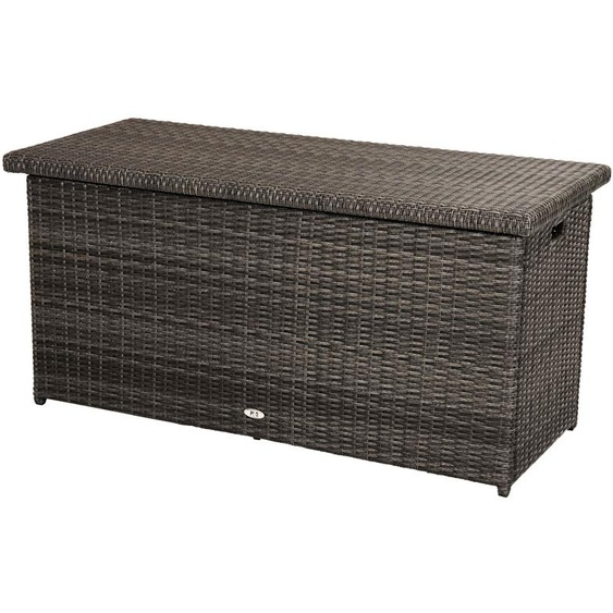PLOß Rocking Kissenbox, grau/braun-meliert, Polyrattan, 145x58x73 cm, inkl. Inlay