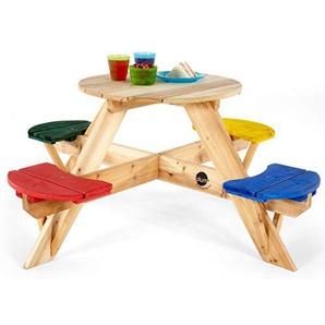 Plum 02017 Kinder Picknicktisch rund mit farbigen Sitzen