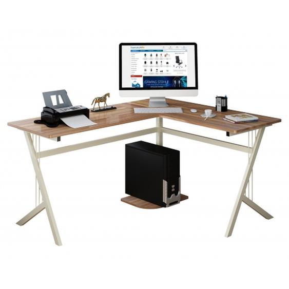 POLLUX | 155x130 - Schreibtisch Nussbaum