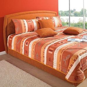 Polsterbett orange, Höhe 45cm, 120/200cm, Härtegrad 2, Westfalia Schlafkomfort