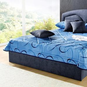 Polsterbett, blau, 160x200cm Höhe Bettseite: 34cm, Westfalia Schlafkomfort