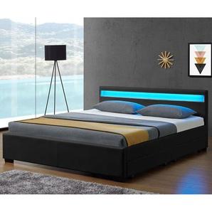 ArtLife Polsterbett Lyon mit Bettkasten 180 x 200 cm - schwarz