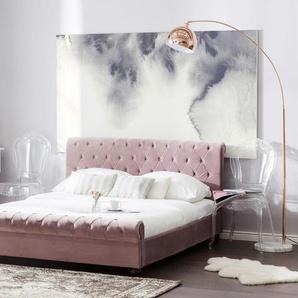 Polsterbett rosa Lattenrost 180 x 200 cm AVALLON